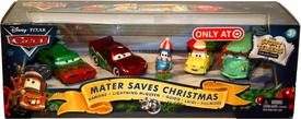 Disney / Pixar CARS Movie 1:55 Die Cast Holiday 2010 Exclusive Story Tellers Collection 5-Pack Mater Saves Christmas [Ramone, McQueen, Guido, Luigi & Fillmore]
