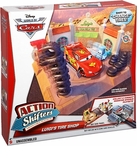 Disney / Pixar CARS Movie Action Shifters Playset Luigi's Tire Shop