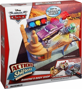 Disney / Pixar CARS Movie Action Shifters Playset Ramone's Body Shop