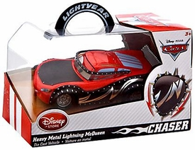 Disney / Pixar CARS Movie Exclusive 1:43 Die Cast Car Heavy Metal Lightning McQueen [Chase Edition]