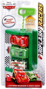 Disney / Pixar CARS Movie Riplash Racers 2-Pack with Launcher Lightning McQueen & Chick Hicks