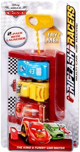 Disney / Pixar CARS Movie Riplash Racers 2-Pack with Launcher The King & Funny Car Mater