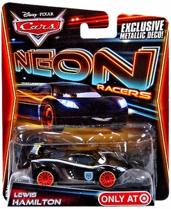 Disney / Pixar CARS Neon Racers Exclusive 1:55 Die Cast Car Lewis Hamilton [Metallic Deco!]