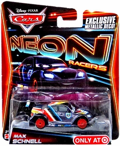 Disney / Pixar CARS Neon Racers Exclusive 1:55 Die Cast Car Max Schnell [Metallic Deco!]