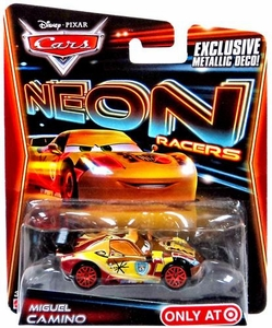 Disney / Pixar CARS Neon Racers Exclusive 1:55 Die Cast Car Miguel Camino [Metallic Deco!]