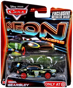 Disney / Pixar CARS Neon Racers Exclusive 1:55 Die Cast Car Nigel Gearsley [Metallic Deco!]