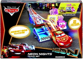 Disney / Pixar CARS Neon Racers Exclusive Playset Neon Nights Track Set [Includes 2 Vehicles]