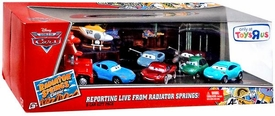 Disney / Pixar CARS Radiator Springs Classic Exclusive 1:55 Die Cast 9-Pack Reporting Live From Radiator Springs! New!