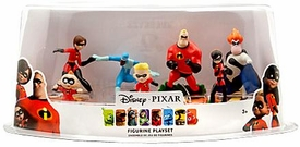 Disney / Pixar The Incredibles Exclusive 7 Piece Deluxe PVC Figurine Playset