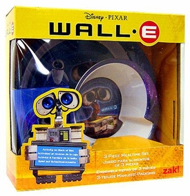 Disney Pixar Wall-E Movie 3-Piece Mealtime Set[Plate, Bowl & Tumbler]