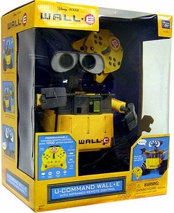 Disney Pixar Wall-E Movie Deluxe 10 Inch Interactive Toy Figure with InfraRed Remote Control U-Command Wall-E