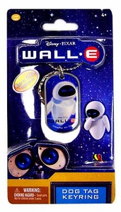 Disney Pixar Wall-E Movie Dog Tag Keyring Eve