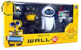 Disney Pixar Wall-E Movie Exclusive Basic Figure 4-Piece Gift Set with Difibrillator-Bot [Wall-e, Eve, Defibrillator-Bot & M-O]