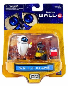 Disney Pixar Wall-E Movie Scene Mini Figure 2-Pack Wall-E In Awe