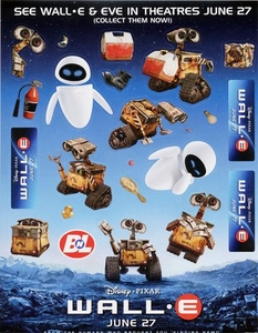 Disney Pixar Wall-E Movie Sticker Sheet