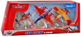 Disney PLANES Exclusive 1:55 Die Cast 3-Pack Sky Flyin' [Racing Dusty Crophopper, Bulldog & Sun Wing]