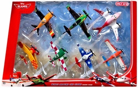 Disney PLANES Exclusive 1:55 Die Cast 7-Pack Wings Around the Globe [Sun Wing, Jan Kowalski, LJH 86 Special, Racing Dusty Crophopper, Joey Dundee, Ripslinger & Rochelle]