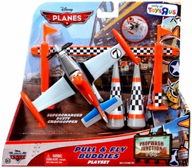Disney PLANES Exclusive Pull & Fly Buddies Playset Supercharged Dusty Crophopper
