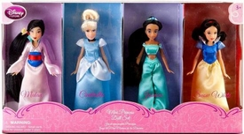 Disney Princess Exclusive Mini Princess Doll Set #1 Mulan, Cinderella, Jasmine & Snow White