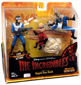 Disney's The Incredibles Rapid Run Dash Deluxe Action Figure Set