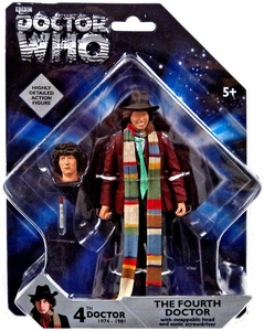 Doctor Who 5 Inch Action Figure 4th Doctor with Swappable Head & Sonic Screwdriver