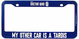 Doctor Who Bif Bang Pow! License Frame My Other Car Is A Tardis