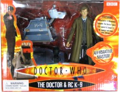 Doctor Who Underground Toys Boxed Action Figure 2-Pack The Doctor & RC K-9 [Damaged Box, Mint Contents!]