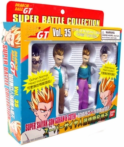 Dragonball GT Bandai Japanese Super Battle Collection Action Figure 2-Pack Vol. 35 Super Saiyan Son Gohan & Goten
