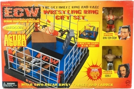 ECW Wrestling The Ultimate Wrestling RING & CAGE [Includes Sabu & RVD Figure]