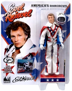 Evel Knievel 8 Inch Series 1 Action Figure White Jumpsuit New!