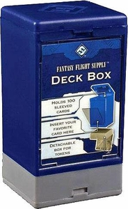 Fantasy Flight Card Supplies 100 Count Blue Deck Box Great for MTG Commander!