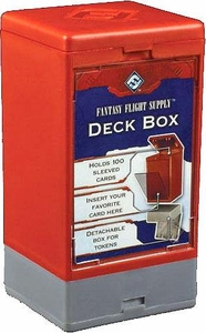 Fantasy Flight Card Supplies 100 Count Red Deck Box Great for MTG Commander!