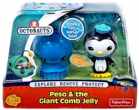 Fisher Price Octonauts Figure & Creature Peso & The Giant Comb Jelly