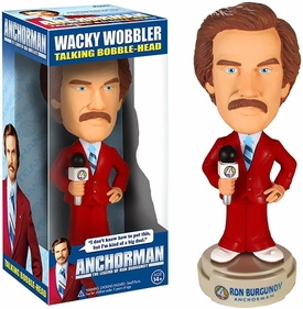 Funko Anchorman Wacky Wobbler Bobble Head Ron Burgundy