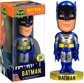 Funko Batman 1966 SDCC 2013 San Diego Comic-Con Exclusive Wacky Wobbler Bobble Head Batman [Metallic]