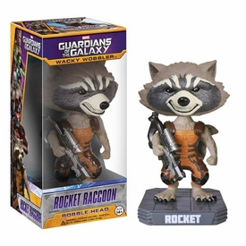 Funko Marvel Guardians of The Galaxy Wacky Wobbler Bobble Head Rocket Raccoon New!