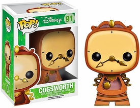 Funko POP! Disney Beauty and the Beast Vinyl Figure Cogsworth New!