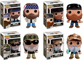 Funko POP! Duck Dynasty Set of 4 Vinyl Figures [Phil, Jase, Si & Willie]