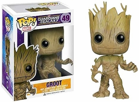 Funko POP! Marvel Guardians of The Galaxy Vinyl Bobble Head Groot New!