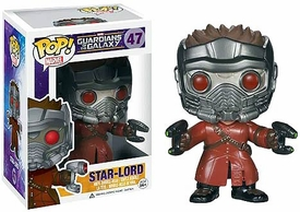 Funko POP! Marvel Guardians of The Galaxy Vinyl Bobble Head Star Lord New!