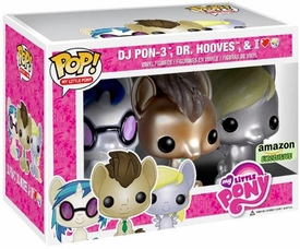 Funko POP! My Little Pony Exclusive Vinyl Figure Glitter 3-Pack DJ PON-3, Dr. Hooves & Derpy Hooves