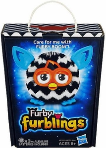 Furby Furblings Figure Black & White Zigzag New!
