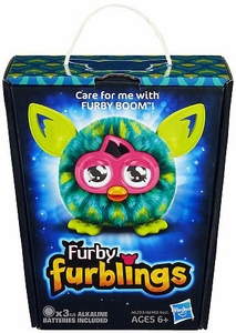 Furby Furblings Figure Green & Yellow Peacock Feather