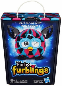 Furby Furblings Figure Pink , Black & Blue Triangles New!