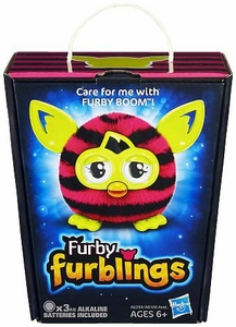 Furby Furblings Figure Pink & Black Stripes New!