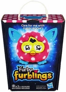 Furby Furblings Figure Pink & White Polka Dots New!