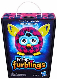 Furby Furblings Figure Purple Houndstooth New!