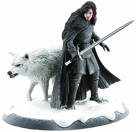 Game of Thrones Dark Horse Jon Snow & Ghost Statue