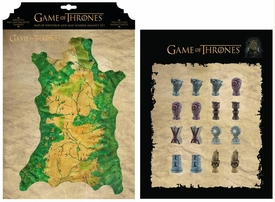 Game of Thrones Dark Horse Magnet Set Westeros Map Pre-Order ships October