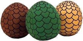 Game of Thrones Plush Dragon Eggs Set [Brown, Green & Gold]